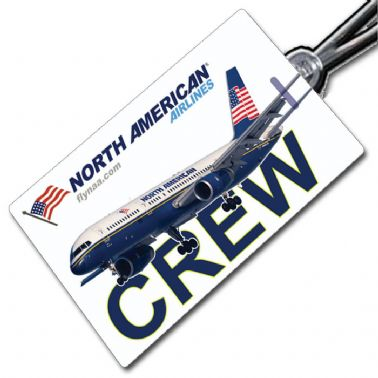 North American Airlines 757 Crew Tag